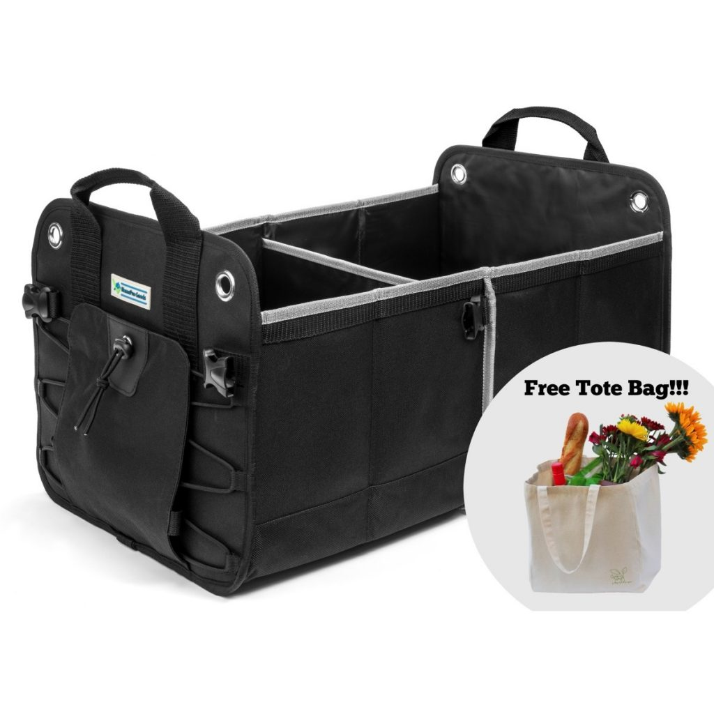 Black Car Trunk Organizer with Free Tote Bag Offer