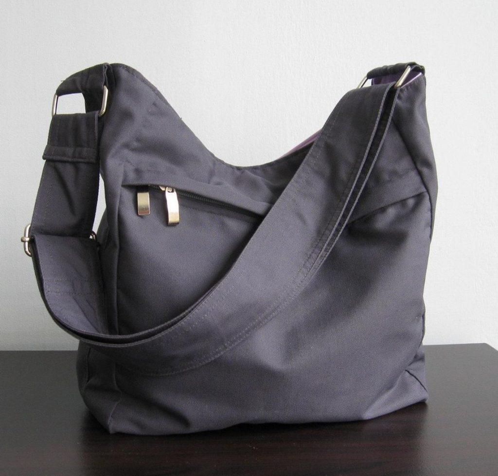 grey messenger bag from Etsy seller tippythai
