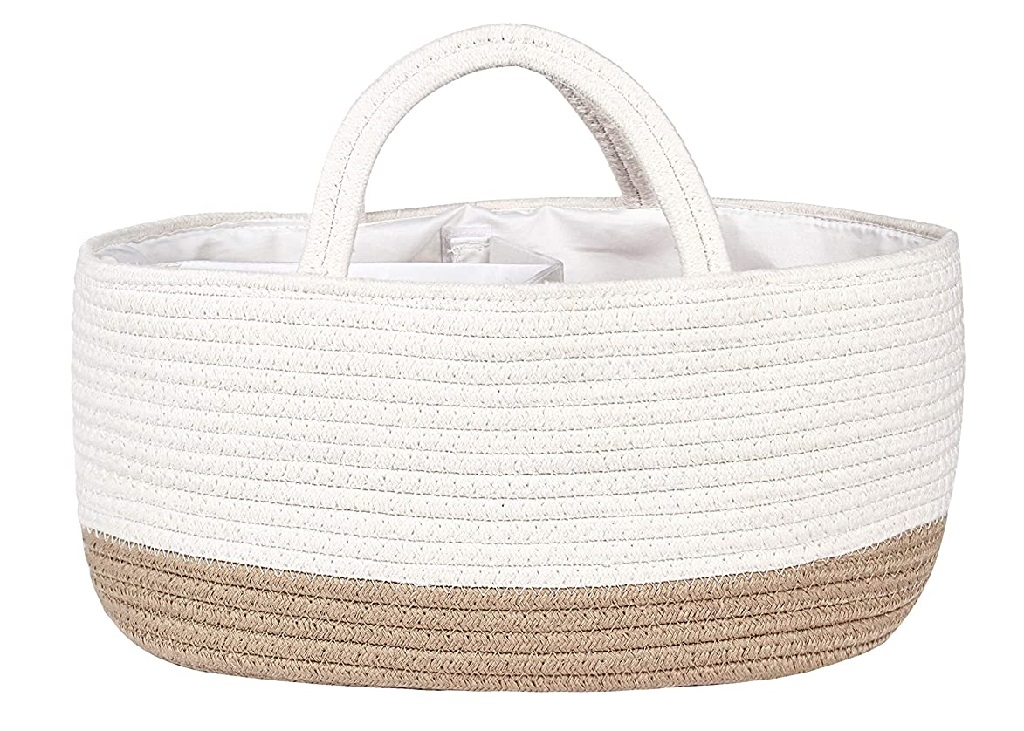 Cotton Rope Diaper Caddy by Mila Millie